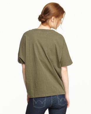 Khaki  Dolman sleeve T-Shirts見る