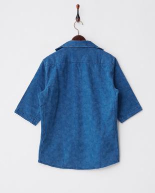 ブルー  JH カモ柄プルオーバーシャツ見る
