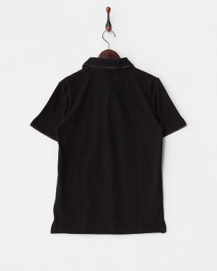 ブラック  ダブルカラーポロシャツ見る