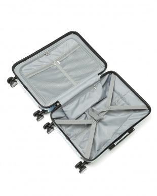 メタリックブルー  Zipper型スーツケース 約34L見る