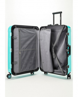 ミントブルー Frame型スーツケース 約95L見る