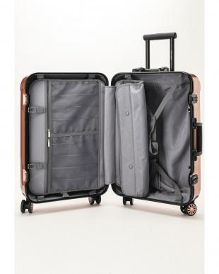 ピンクローズ  Frame型スーツケース 約54L見る