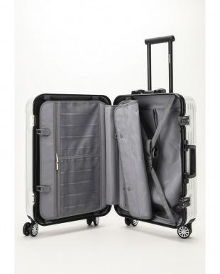 ホワイト  Frame型スーツケース 約54L見る