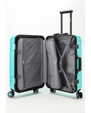 ミントブルー  Frame型スーツケース 約54L見る
