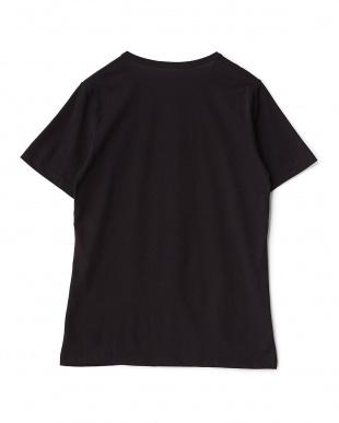 ブラック イタリアンメンズTシャツ(スタンプ)見る