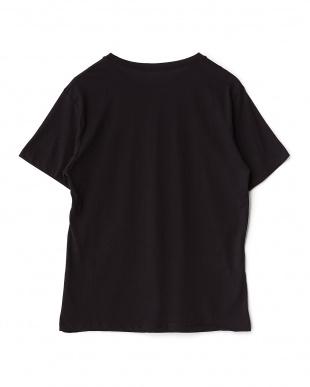 ブラック イタリアンメンズTシャツ(ライン)見る