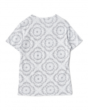 ペーズリー 幾何学プリントTシャツ見る