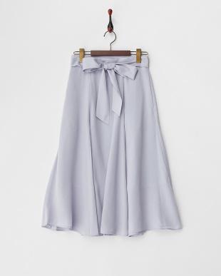 SAX  共リボン付マチ入りフレアースカート見る