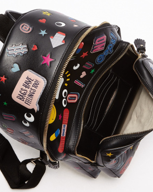 Black Backpack Mini All Over Wink Stickers見る