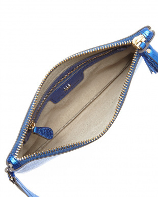Electric Blue Zip Top Pouch Have a Nice Day見る