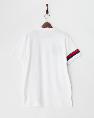 ホワイト  デザインライオン刺繍ポロシャツ│MEN見る