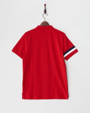 レッド  デザインライオン刺繍ポロシャツ│MEN見る