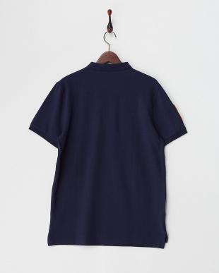 ネイビー 3Dライオン刺繍ポロシャツ│MEN見る
