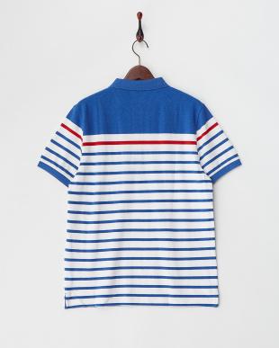 ネイビー  ボーダーポロシャツ|MEN見る