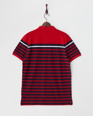 レッド  ボーダーポロシャツ|MEN見る
