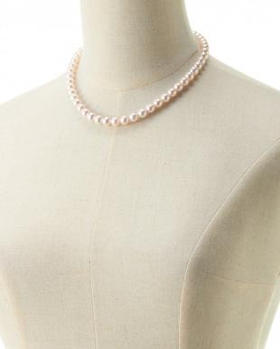 ホワイト 花珠アコヤ真珠ネックレス/イヤリングセット8-8.5mm見る