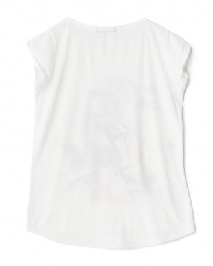 ヒール  ラウンドカットプリントTシャツ見る