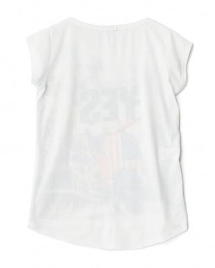 バタフライ  ラウンドカットプリントTシャツ見る