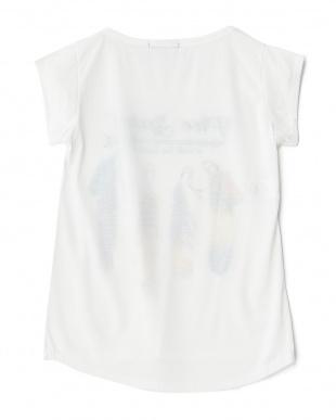 フェザー  ラウンドカットプリントTシャツ見る
