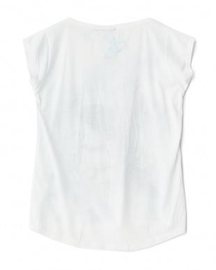ピーコック  ラウンドカットプリントTシャツ見る