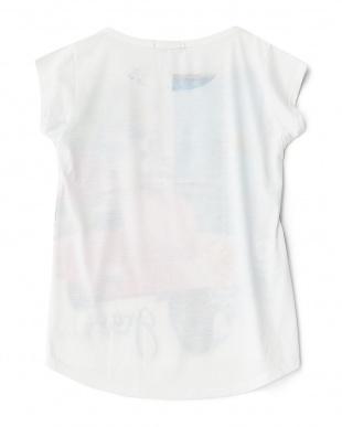 グレース  ラウンドカットプリントTシャツ見る