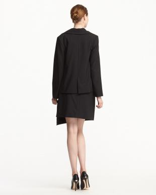 ブラック テーラードジャケット+ラップスカート見る