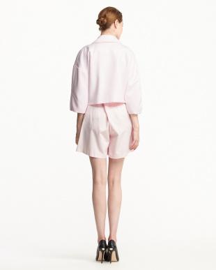 ピンク ワイド袖ジャケット+グログランショートパンツ見る