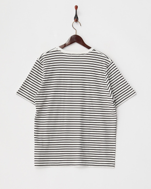 BLACK  T17.SIMPLE BDR VネックTシャツ見る