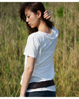 グレー  BOHEMIAN プリント Tシャツ|WOMEN見る