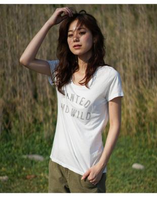 オフホワイト  WANTED AND WILD Tシャツ|WOMEN見る