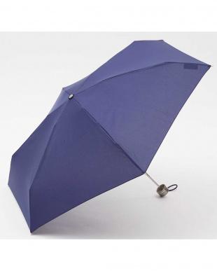 ネイビー  手動開閉折りたたみ傘セット見る