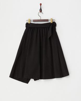 ブラック  ランダムヘムスカート見る