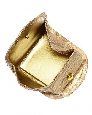 ゴールド  パイソンコインケース見る
