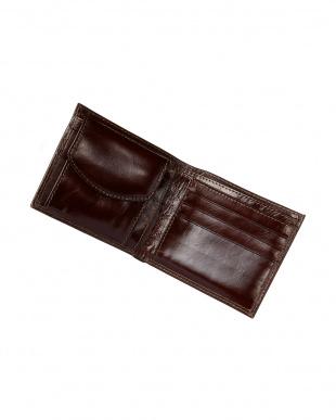 ブラウン  イタリアンカーフ 二つ折り財布見る