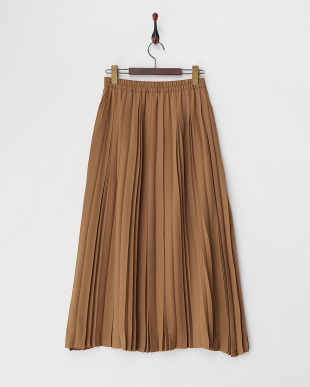 キャメル  ロングプリーツスカート見る