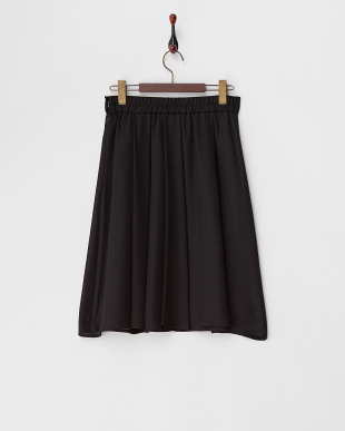 ブラック  シフォンジョーゼットスカート見る