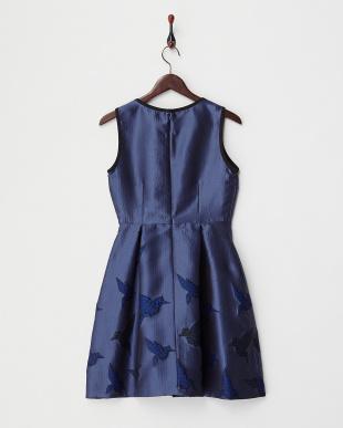 navy blue pattern INIZIO origami ドレス(JAPAN 限定ドレス)見る