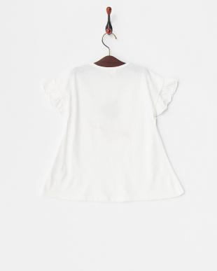 ホワイト  フルーツプリントTシャツ見る