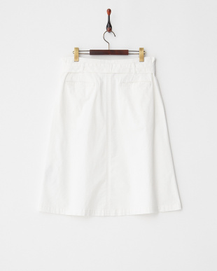 WHITE CAPTARE ストレッチコットンフレアースカート見る