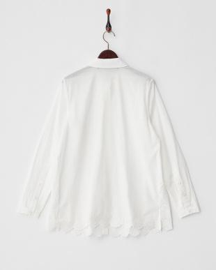 WHITE BRIOSO 裾カットワークレース ピンタックシャツチュニック見る