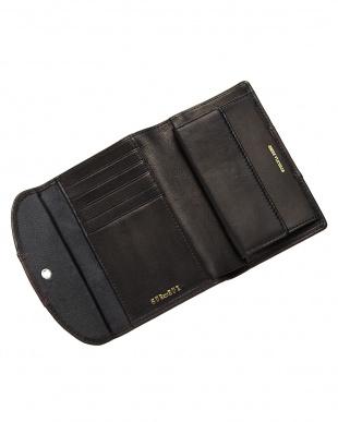 ブラック  エチオピアシープ 中財布見る