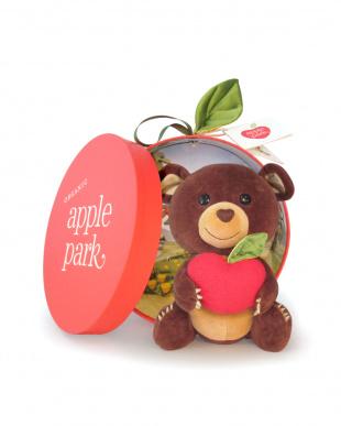 くま  apple park プラッシュトイ見る