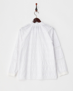 ivory EYELET LONG SLEEVE TOP見る