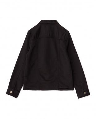 ブラック タオルデニムシャツジャケット見る