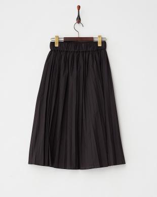 ブラック  ナロープリーツミディスカート見る