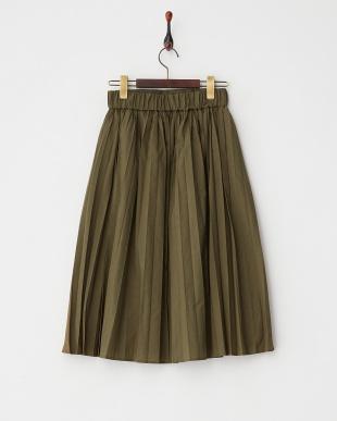 オリーブ  ナロープリーツミディスカート見る