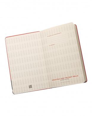 レッド コカ・コーラ ノートブック ルールド(横罫) ラージ見る