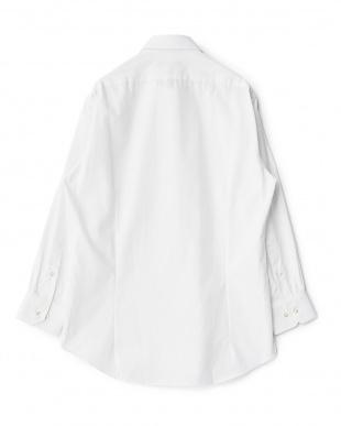 ホワイト系 シャドーストライプ 長袖レギュラーカラーワイシャツ見る