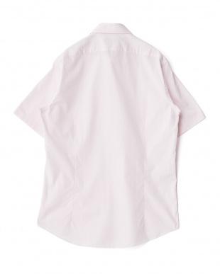 レッド系 無地 半袖ボタンダウンワイシャツ見る