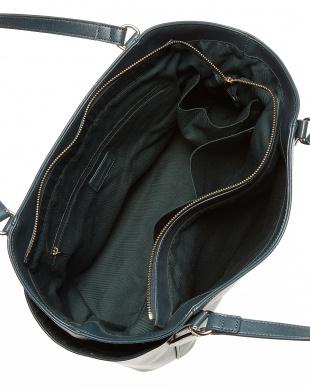 モスグリーン  ハート型ミラーチャーム付きトートバッグ見る
